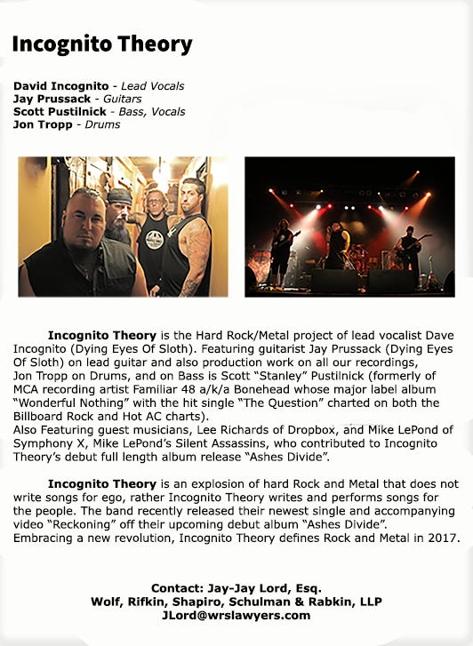Incognito Theory Band Bio